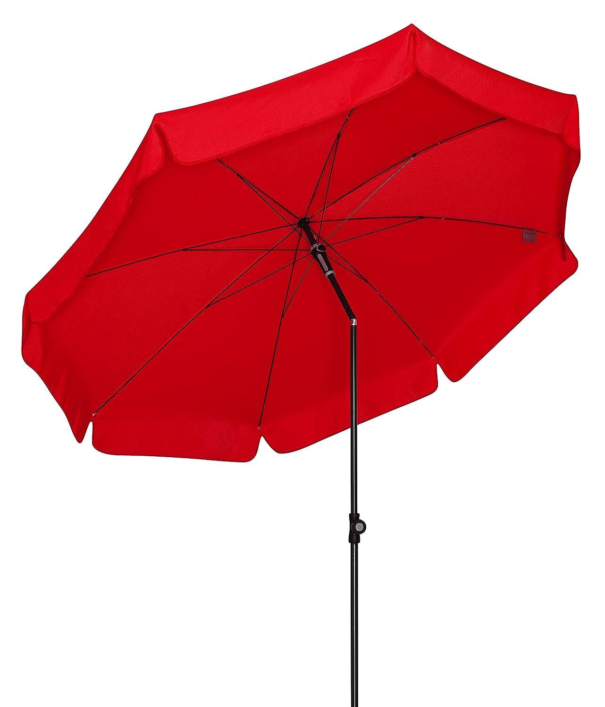 Doppler Absolut wetterfester Gartenschirm Sunline 200 rot, UV-Schutz 50 Plus und Knicker,
