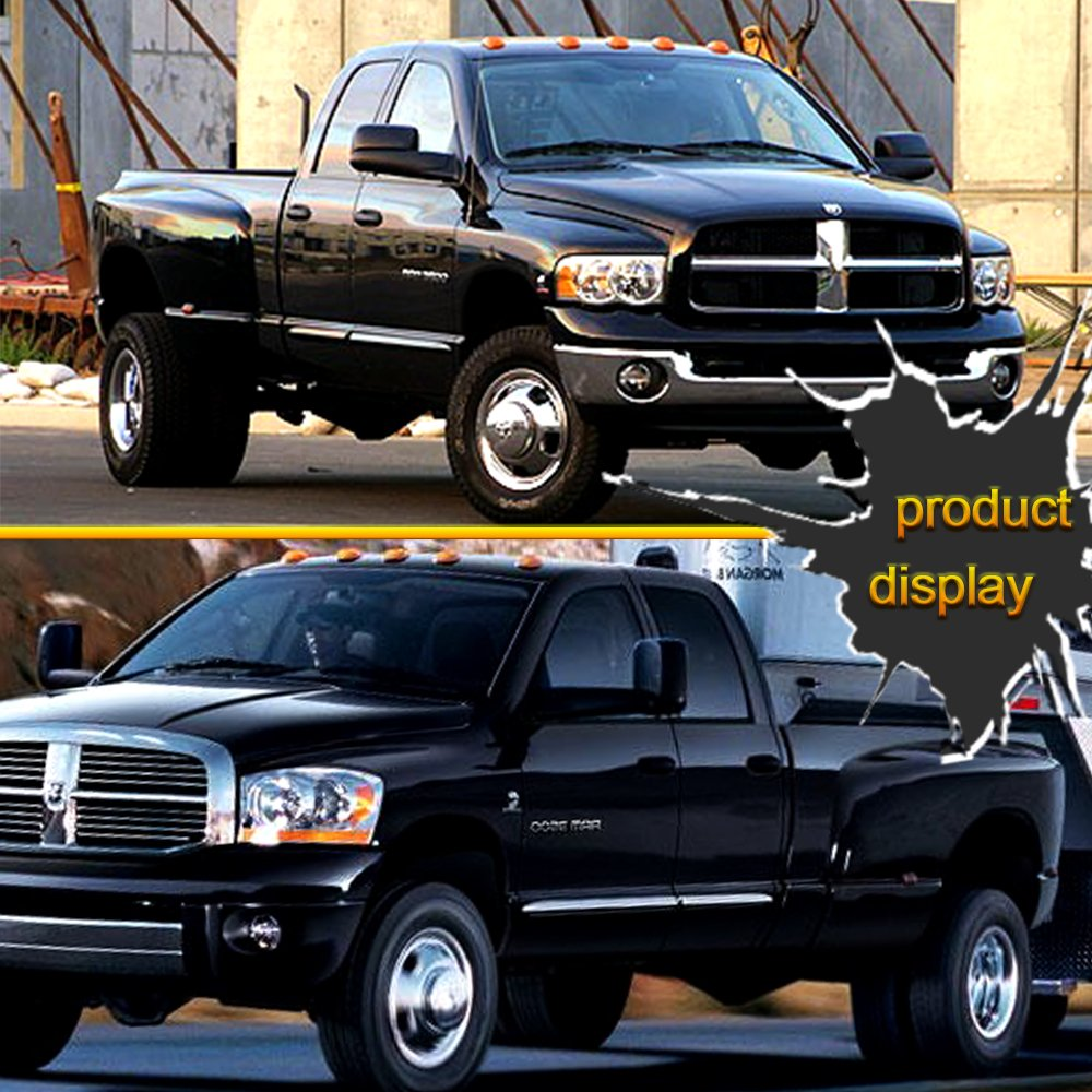 Scitoo For Dodge Ram Towing Mirrors High Performance Automotive Exterior Mirrors for 2009-2017 Ram 1500 2500 3500 with Power Adjusted Heated Manual Flipping up and Folding Features