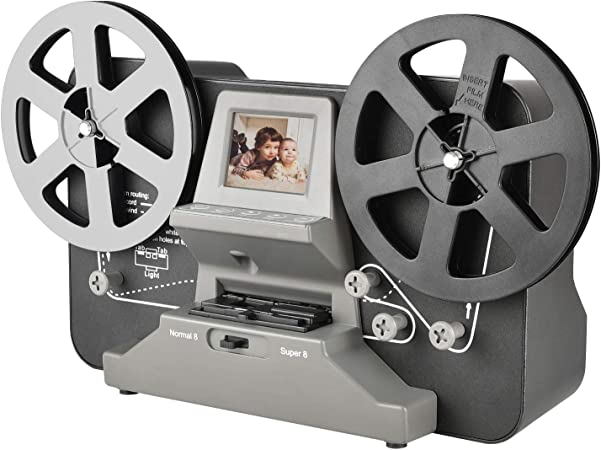 Normal 8 Reflecta Film Scanner mit 2,4 LCD und 32 GB SD-Karte Rybozen Super 8