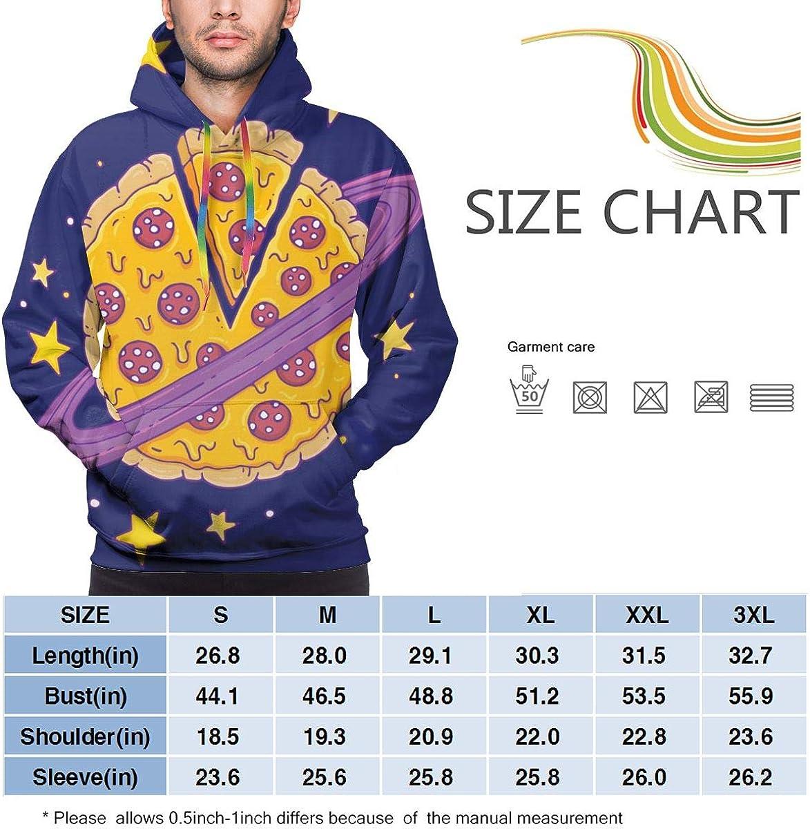 Mens Hoodie Cartoon Pizza Planet Sweate Sweatshirt Mens Casual Hoodie Casual Top Hooded
