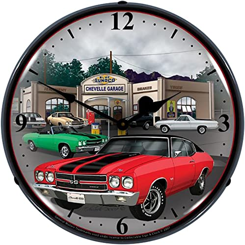 Collectable Sign and Clock GMRE710148 14 1970 Chevelle Lighted Clock