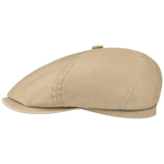 36c31d8bd82 Stetson Brooklin Cotton Newsboy Cap flat  Amazon.co.uk  Clothing