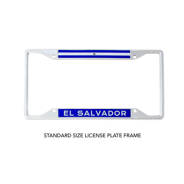 Desert Cactus Country of El Salvador Flag License Plate Frame for Front Back of Car Vehicle Truck