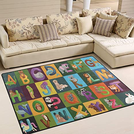 Amazon.com: ALAZA Home Decoration Animals Alphabet Set Kids ...