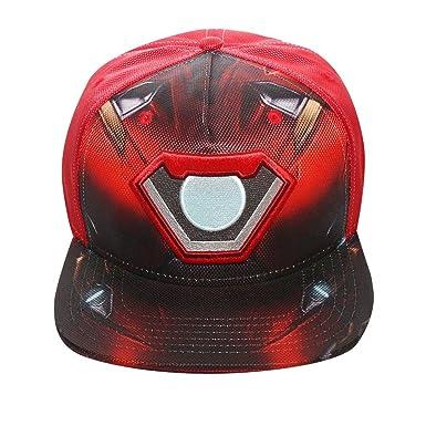 Bioworld Men s Licensed Iron Man Civil Wars Ballistic Sublimated Snapback  Hat O S Red 9b48325e36c0