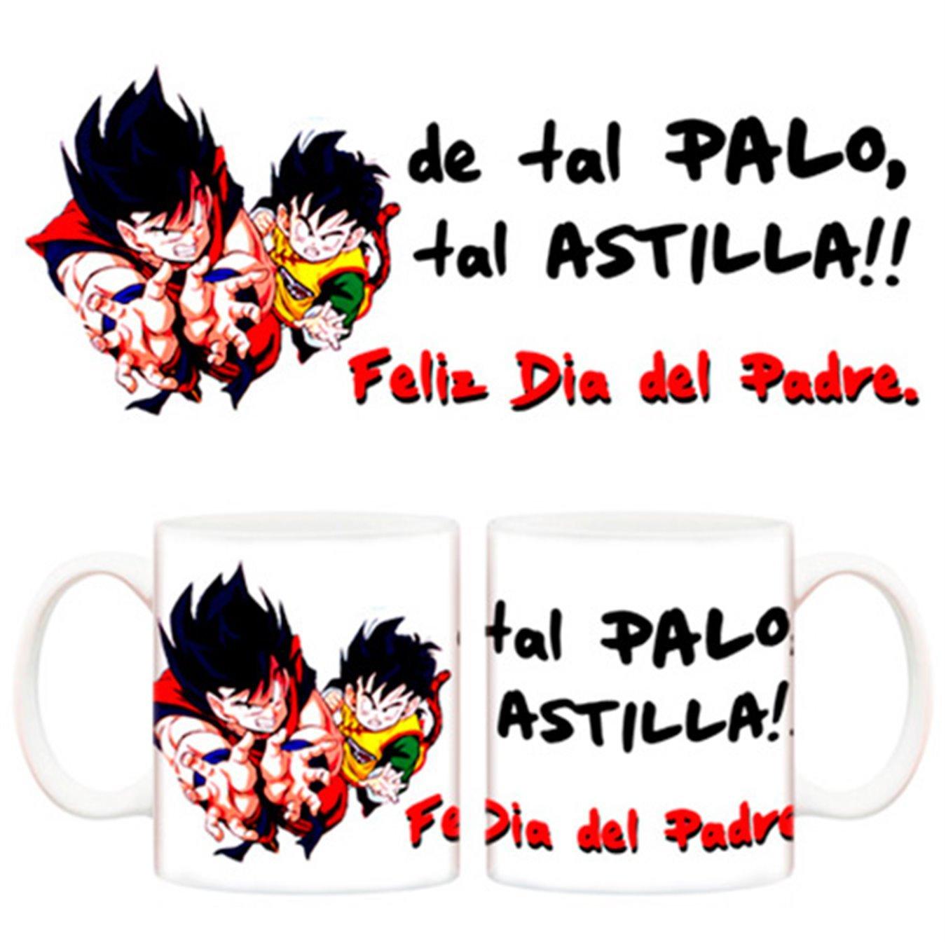 Taza Dragon Ball Bola de dragón día del padre Goku Gohan: Amazon.es ...
