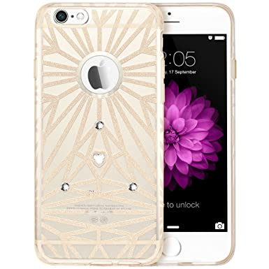 buy online 888ac dc02a iPhone 6s Case/iPhone 6 Case, ESR® iPhone 6 6s Ultra Thin Bling Glitter  Sparkle Silicone Gel TPU Case Cover with Swarovski Crystal Diamond for 4.7  ...