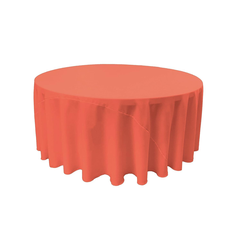Dark Grey TCpop132R/_Drkgrey142 LA Linen Polyester Poplin Round Tablecloth 132-Inch