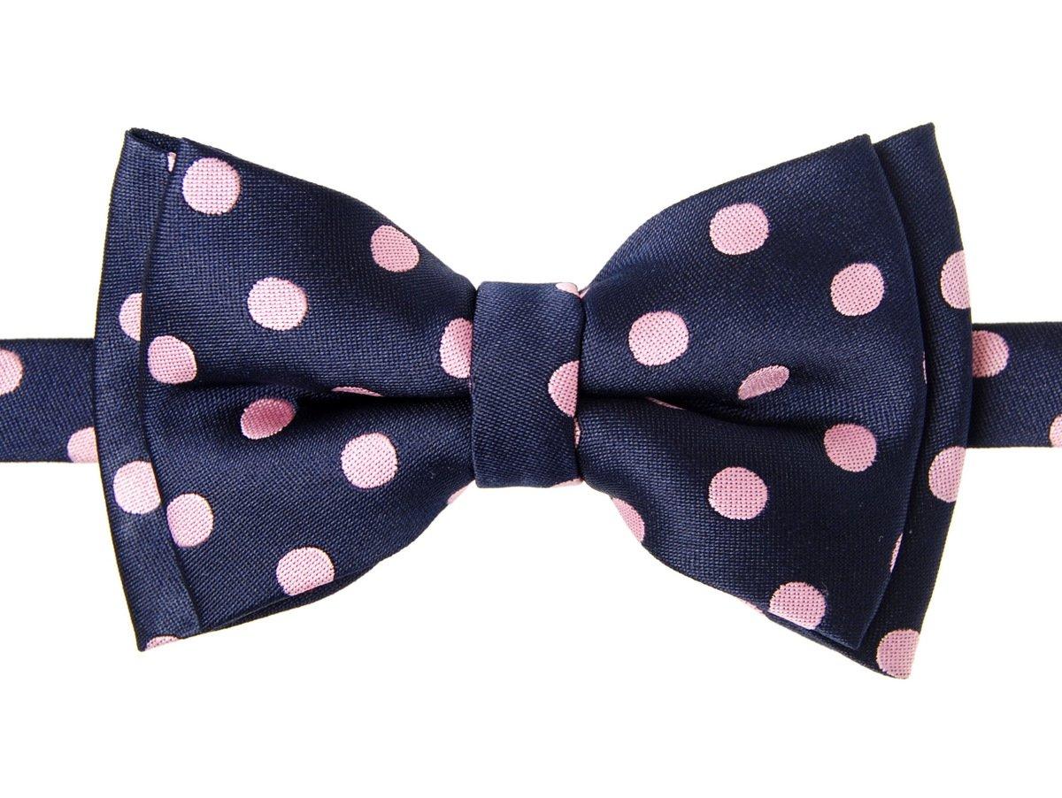 Retreez Classic Polka Dots Woven Microfiber Pre-tied Boy's Bow Tie
