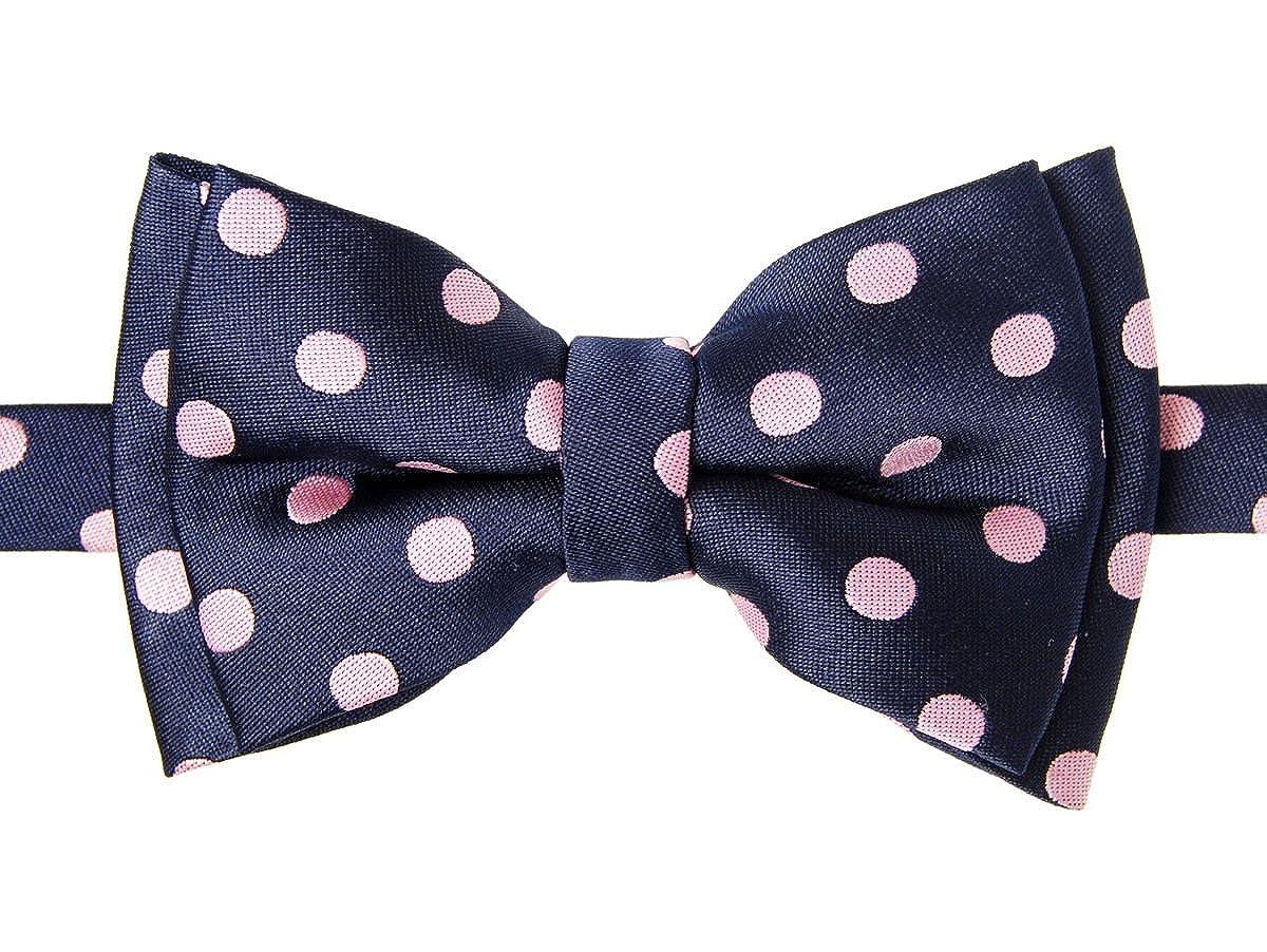 Cravatta a farfalla Retreez, bicolore a pois, da ragazzo, in tessuto di microfibra, prelegata, stile: classico. RTZ-KDBWTIE-157