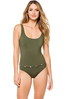 001359b0bf55de Karla Colletto Women's Convertible Over The Shoulder One Piece Swimsuit  Swimsuit