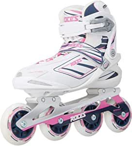 Roces Women's IZI Sporty Inline Fitness Skates, White-Blue-Pink. 400802 00002