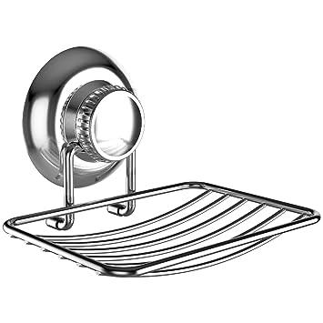 Gecko Loc Soap Dish Holder For Shower Or Bath W Suction Cup, Sponge Holder