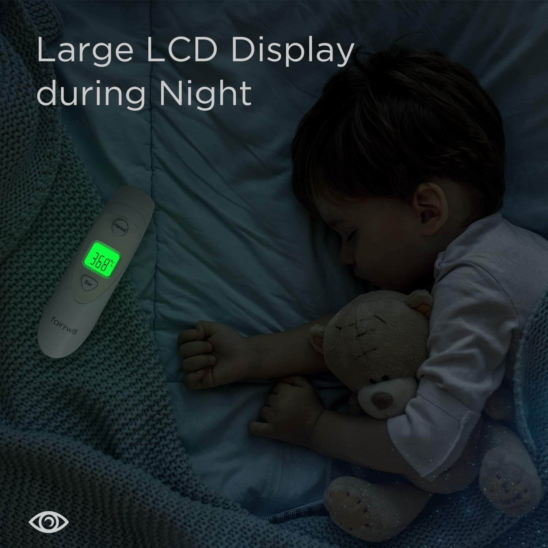 2019 mejorados Term/ómetro digital de precisi/ón para o/ídos y frentes Fairywill para beb/és y adultos con alarma de fiebre 4 en 1