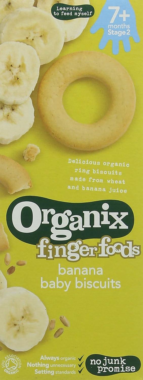 Organix Organic Baby Biscuits Banana 54 g (Pack of 5) ORGANIX (VEGETARIAN) 82759