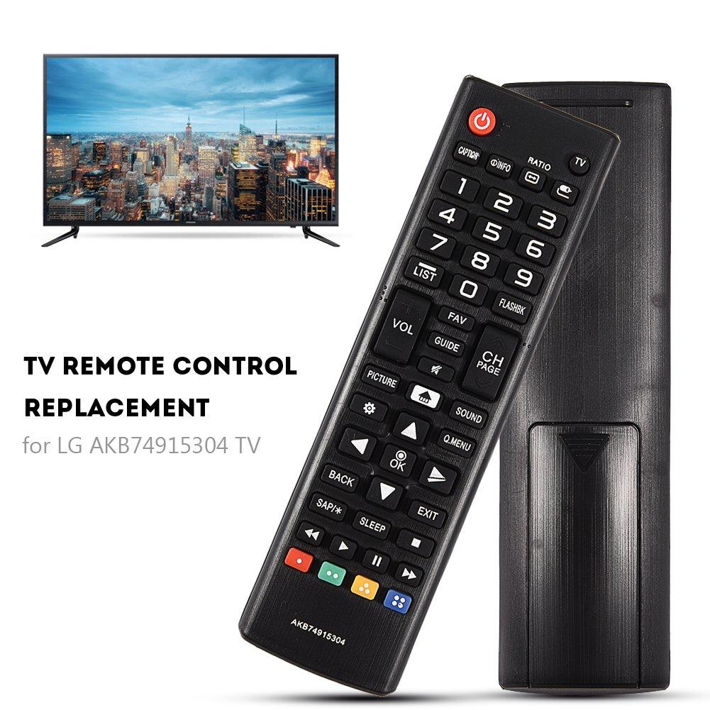 Distanza di Controllo Temoto 10 Metri Nero Materiale ABS Indossabile Mugast Sostituzione Telecomando TV per LG AKB74915304 Resistente