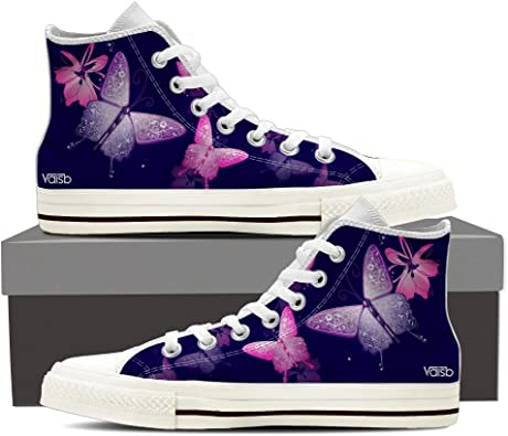 Womens High Top Canvas Sneakers White