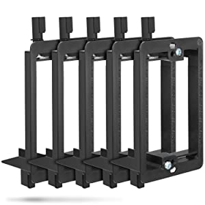 Low Voltage Mounting Bracket (1 Gang, 5 Pack), Fosmon Low Voltage Mounting Bracket (Mounting Screws Included) for Telephone Wires, Network Cables, HDMI, Coaxial, Speaker Cables