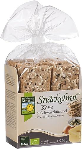 Bohlsener Mühle Snäckebrot Panes Crujientes con Queso y Alcaravea - 8 Paquetes de 200 gr - Total: 1600 gr: Amazon.es: Alimentación y bebidas