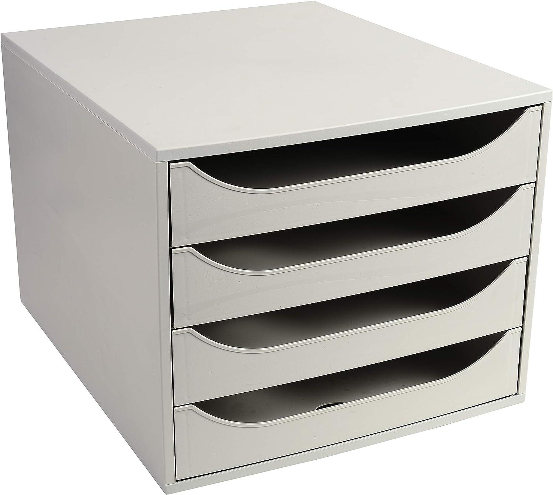 mit 5 Laden f/ür A4+ 1 St/ück grau Exacompta 229606D Schubladenbox ECOBOX von Exacompta