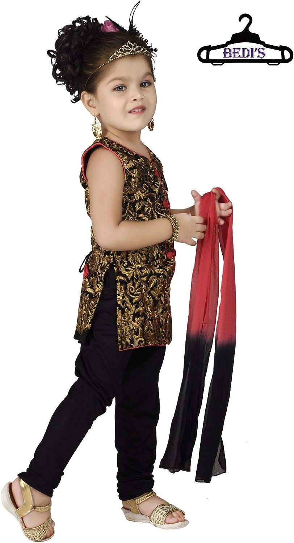BGWC-5530 BEDIS Baby Girl European Size Indo-Western Looks Patiala Salwar Suit New Born Infant Kameez Suit Churidar Legging Dress Wedding Prom Party Wear Top Shirt+Leggings Ethnic Dupatta Suit