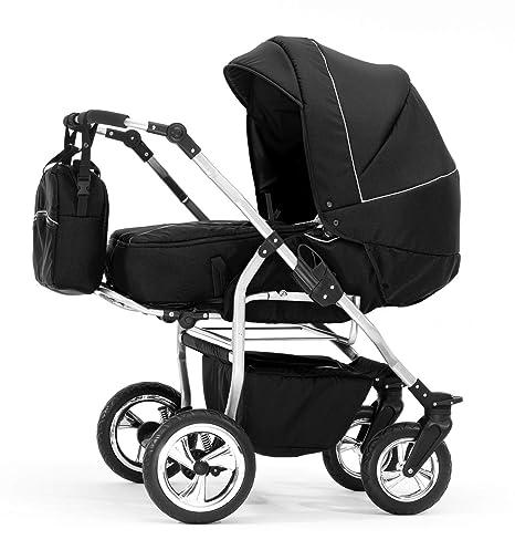 Carro gemelar: capazos+sillas+accesorios. Negro. BBtwin Duet