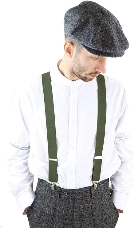 Men's Vintage Style Suspenders Braces Mens Classic Vintage Retro Trouser Braces Suspenders 1920s Gatsby  AT vintagedancer.com