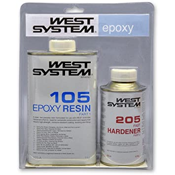 West System A Pack 105 Epoxy Resin & 205 Hardener - Boat Repair