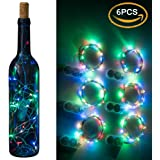 FANLA Starry String Light, On Silver Copper Wire (Batteries Include) Multi-color changing string light 20 Led Micro Lights 6.6ft for Indoor and Outdoor Wedding, Birthday, Home decorations 【6-PACK】