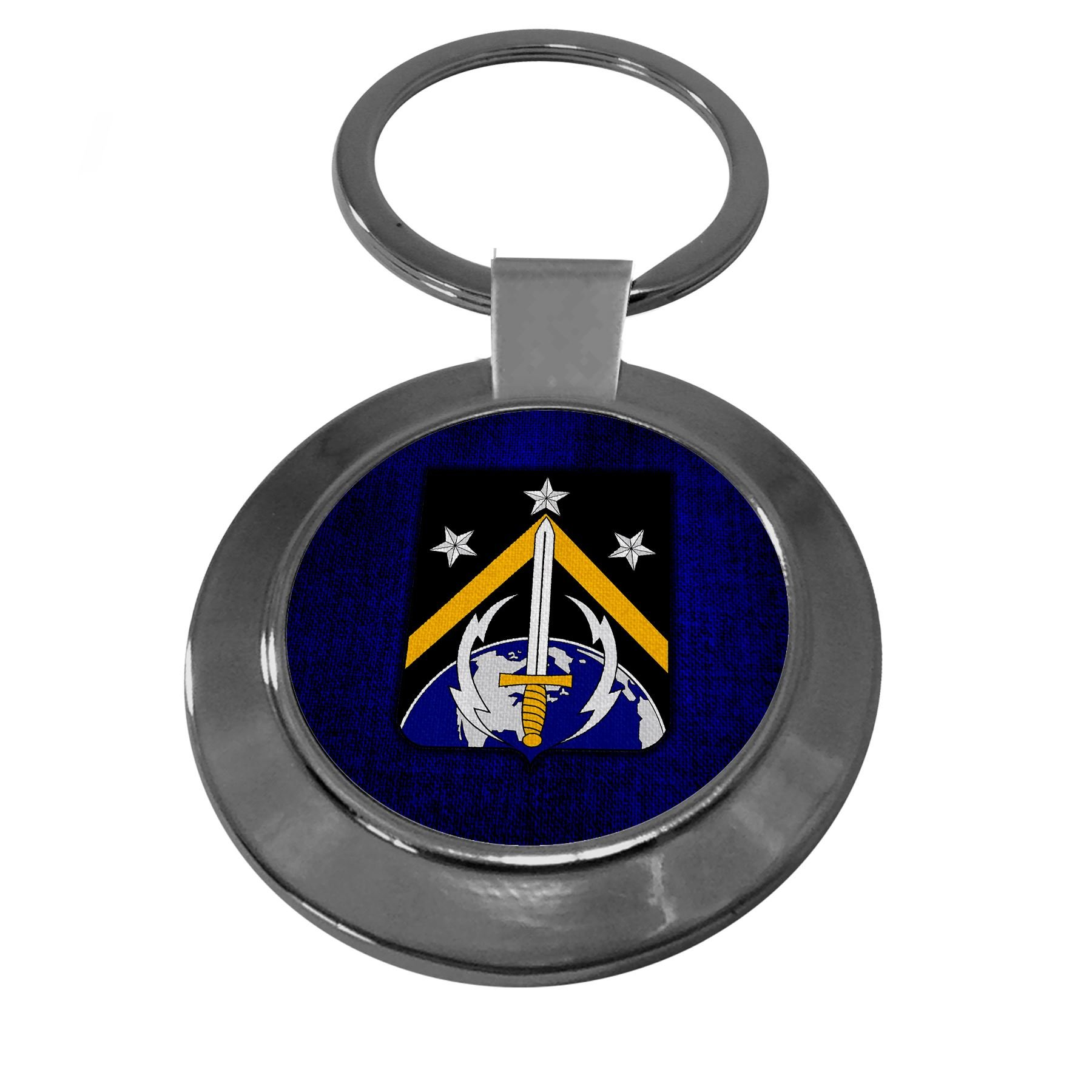 Premium Key Ring with U.S. Army 1st Space Battalion, coat of arms