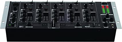 EMB MIX6 19 Rack Mount 4 Channel Professional Mixer w//Dual 7 Band Graphic EQ and more!