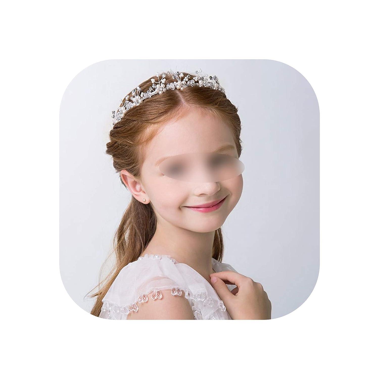 maid of honor Princess wreath,silver new hair birthday gift wedding Girl hair