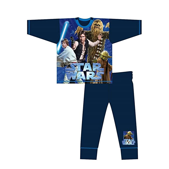 Star Wars - Pijama Infantil de Manga Larga con ilustración de Personajes de la Guerra de