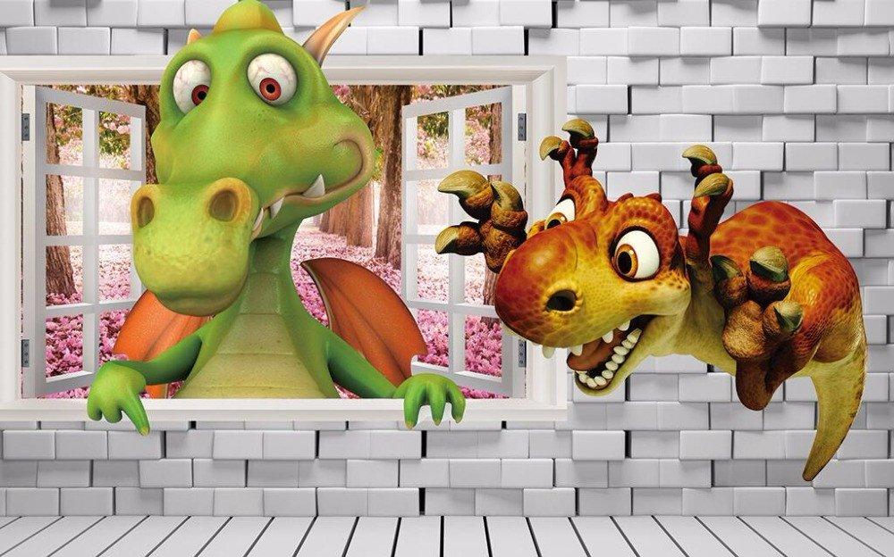Yosot Benutzerdefinierte Tapete Kinderzimmer Kulisse Wall 3D 3D 3D Dinosaurier Stereo Dinosaurier Cartoon Baby Zimmer Hintergrund 3D Tapete Wandbild-250Cmx175Cm B07DVQ67QK Wandtattoos & Wandbilder 65f567