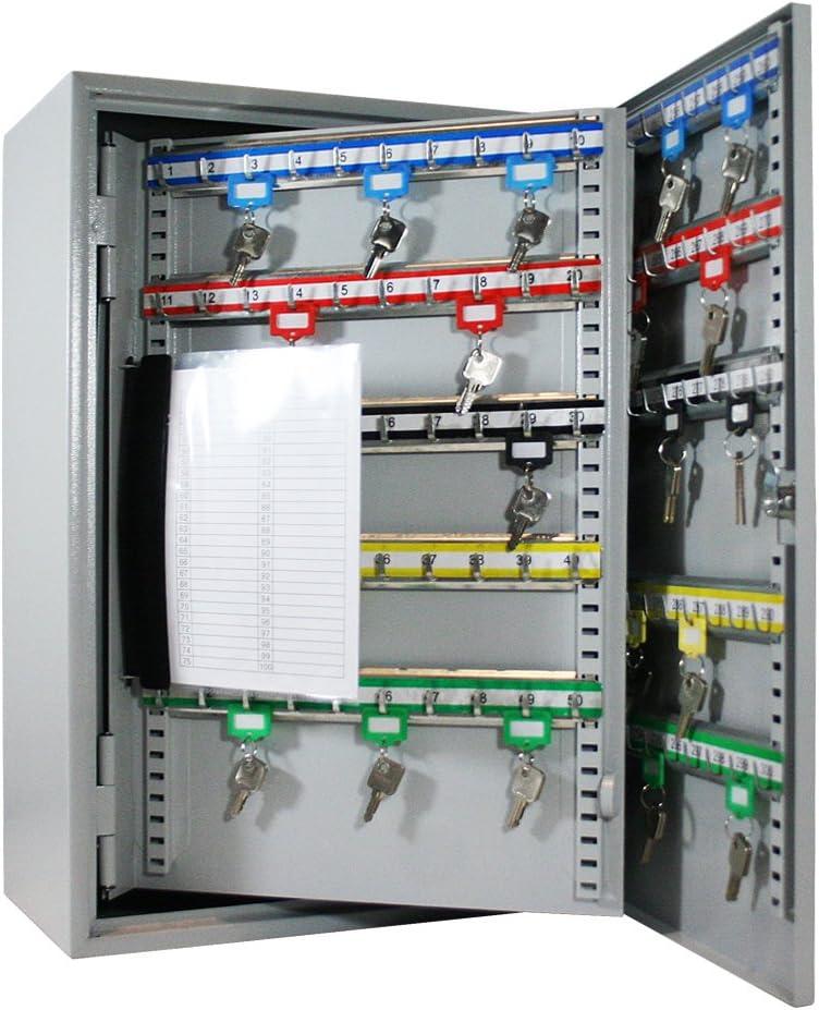 HMF – 1354007 para llaves Buzón, 400 Ganchos, 73,0 X 55,0 x 10,4 cm, 24 kg, Color Gris: Amazon.es: Oficina y papelería