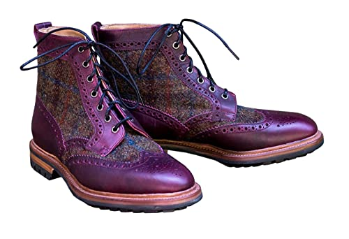 Leatherharris Style Shoes Country Correspondent Tweed Boots Nwmn80