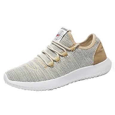 ZODOF Zapatillas De Deporte Respirable para Correr Deportes Zapatos Running Hombres Moda Color SóLido Resistente Al Desgaste Cross Atado Gimnasio Zapatos ...