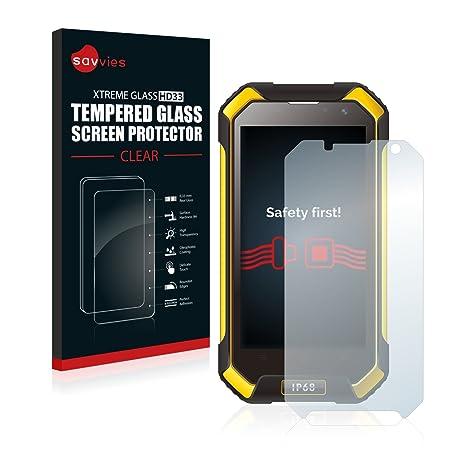Savvies Protector Pantalla para Blackview BV6000 Cristal Templado - Dureza 9H