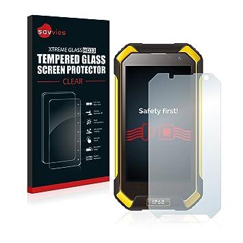 savvies Cristal Templado Compatible con Blackview BV6000 / BV6000s ...