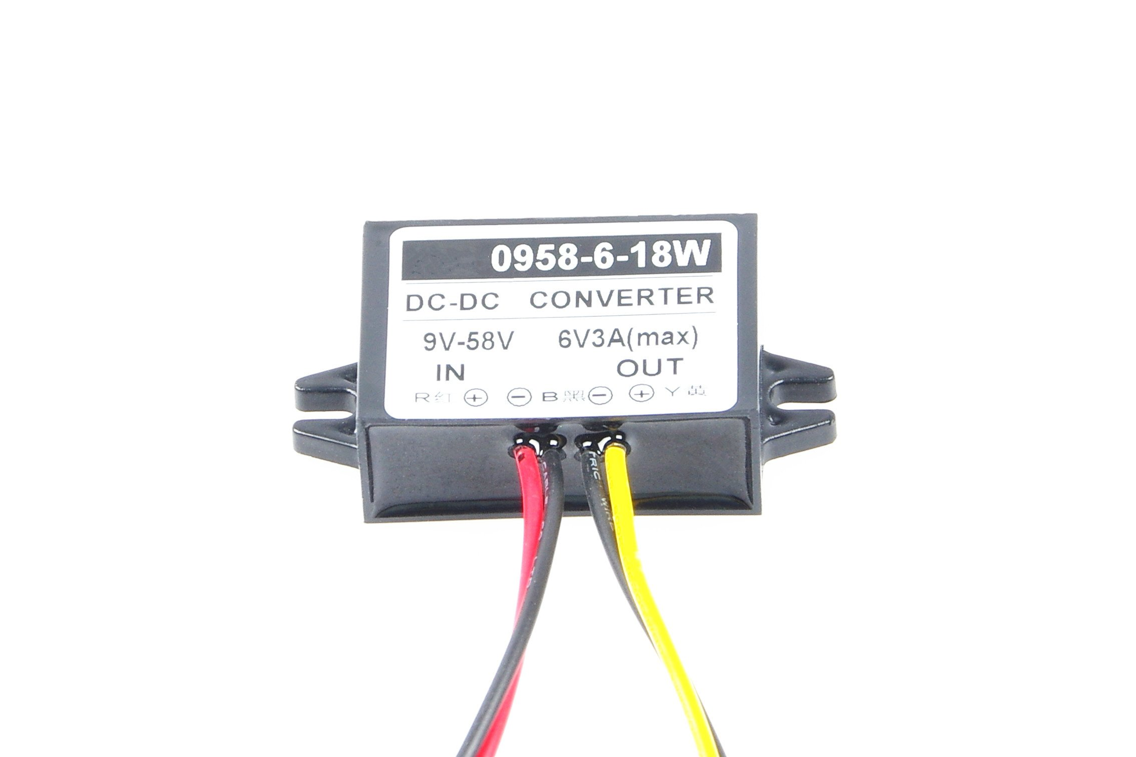 KNACRO Buck Boltage Converters 12V 24V 36V 48V (9V-58V) Changes to 6V 3A 18W Step Down car Power inverters Input DC 9V-58V Output 6V Waterproof Power adapters