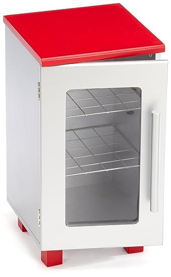 roba 97254 - Kühlschrank, Medium Density Fibreboard silber/rot ...