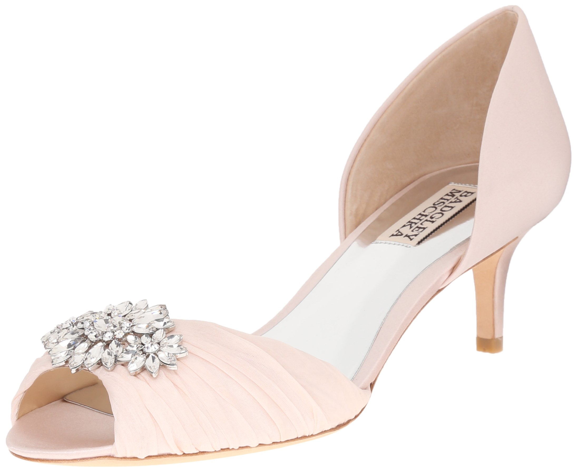 Badgley Mischka Women's Caitlin Dress Pump, Light Pink, 7.5 M US by Badgley Mischka