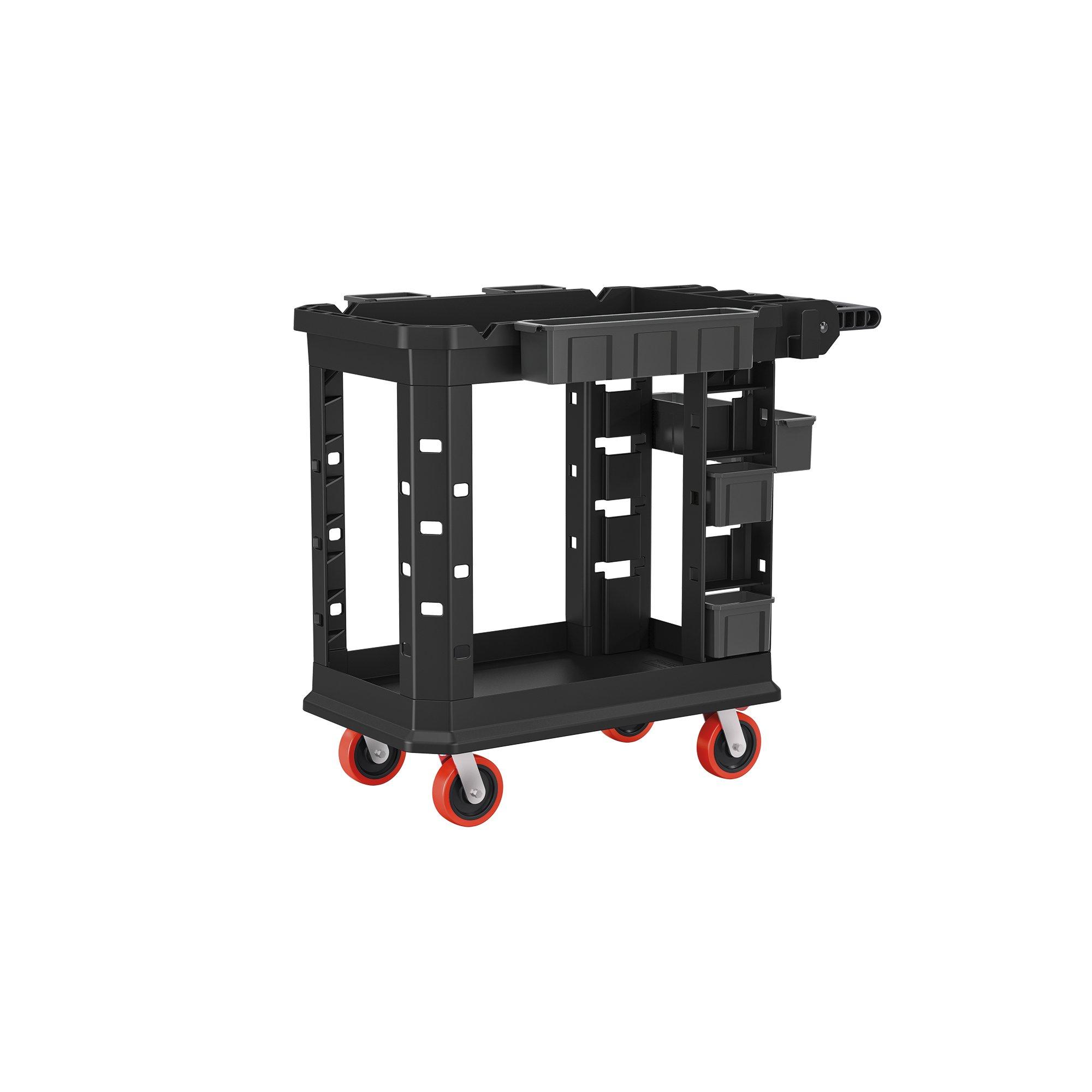 Suncast Commercial PUCHD1937 Utility Cart, Heavy Duty Plus 19 x 37, 500 Pounds Load Capacity, black