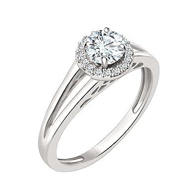 3ade51934 Silver Dew Round White Stone Diamond Ring,925 kt Silver Jewellery,Birthstone  Jewellery,