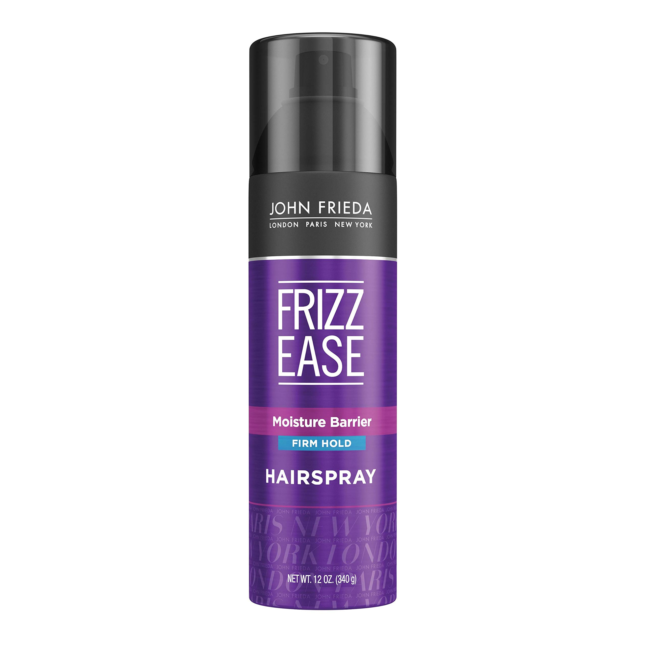 John Frieda Frizz Ease Firm Hold Hairspray, Anti Frizz Hair Straightener, Heat Protectant Spray, for Dry, Damaged Hair, Unscented, 12 Oz