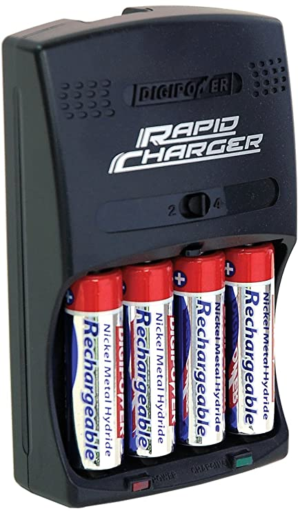 Digipower Dps 3000 3 Hour Aa Aaa Rechargeable Battery Kit With 4 Aa 2700 Mah Batteries And Car Charger