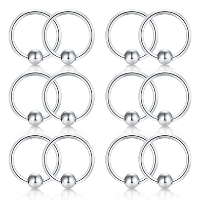 Amazon.com: Briana Williams 12pcs 20G Acero Inoxidable ...