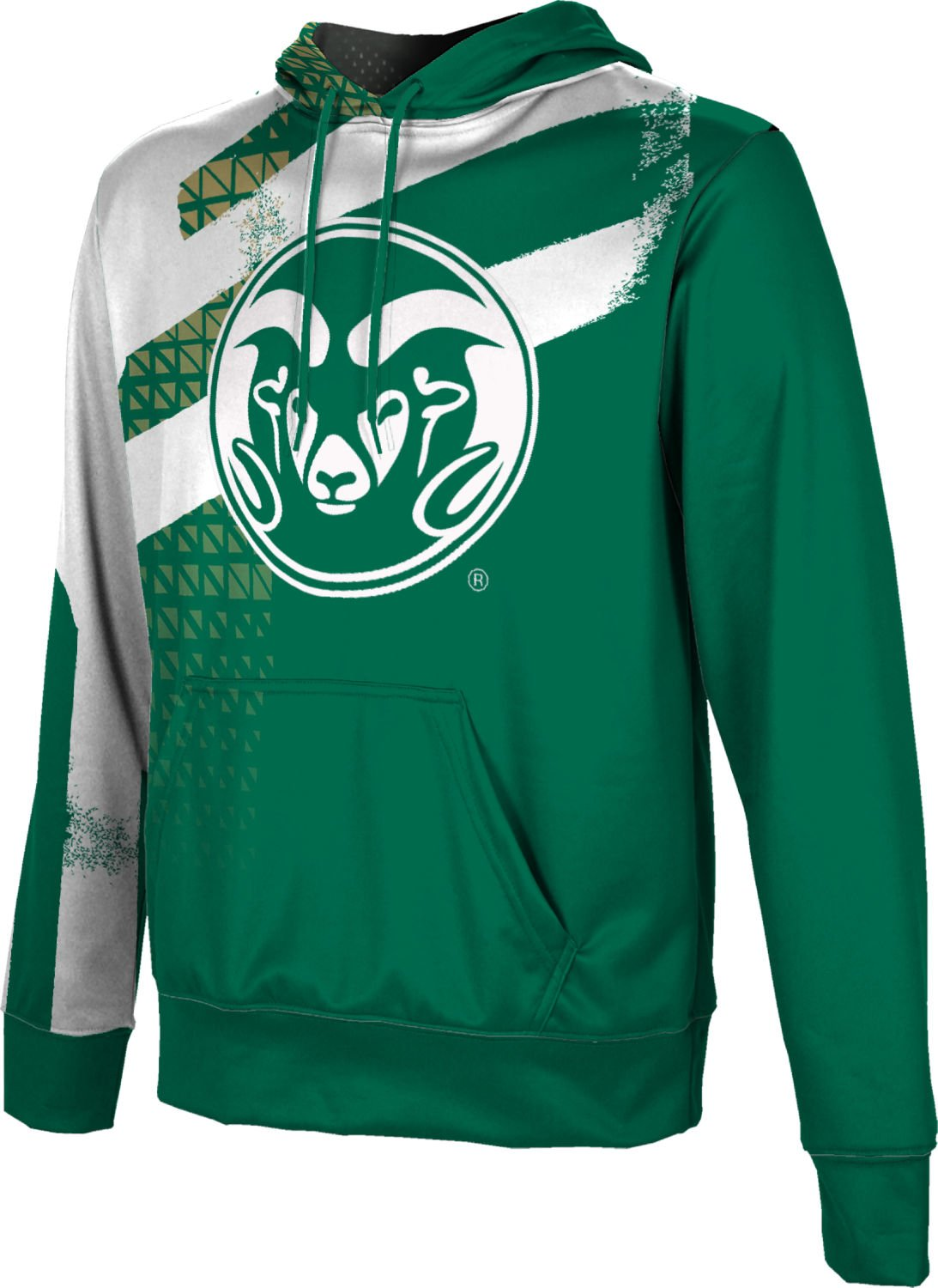 Colorado State University Boys' Pullover Hoodie, School Spirit Sweatshirt (Structure) F8E33 Green and CSU Gold
