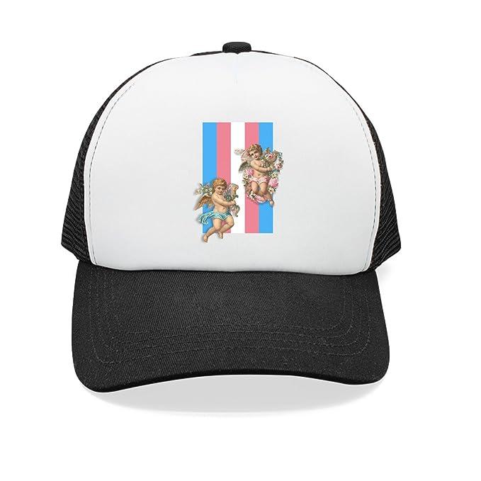 23e549b0376 Trum Namii Unisex Mesh Hat Transgender Pride Flag 2 Mens Snapback Hats at  Amazon Men s Clothing store
