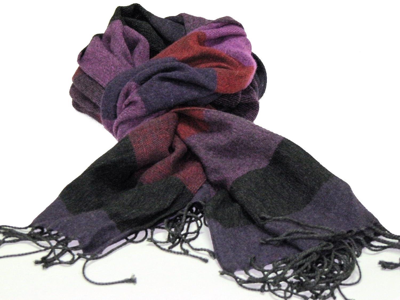sciarpa lana pashmina fasciat wool fashion moda uomo donna prezzo doc made  italy colore Grigio  Amazon.it  Abbigliamento ec8cb4de692f